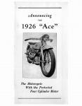 Ace Brochure - 1926