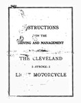 Instructions on Driving and Management of the Cleveland 2-Stroke-2 Light Motorcycle Pocket Size - 1915