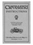 Cleveland Motorcycle Instructions - 1920