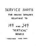 """[Indian] [1948-1949] Indian """"Service Shots"""" Bulletins for (149) Arrow & (249) Scout - Indian Vertical Supply Inc."""