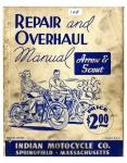 [Indian] [1949] Repair and Overhaul Manual Arrow & Scout - 1949