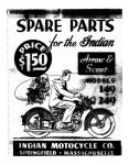 [Indian] [1949] Spare Parts for the Indian Arrow & Scout