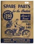 [Indian] [1949] Spare Parts for the Indian Arrow & Scout Models 149 and 249 - 1949