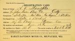 1913 Harley-Davidson Owner Registration Card
