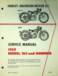 Harley-Davidson Service Manual 1959 Model 165 & Hummer