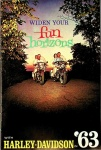 Widen Your Horizons with Harley-Davidson in 1963