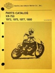 Harley-Davidson Parts Catalog XR-750 (H-D Motor Co.)