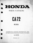 Honda Parts Catalog CA72 (1973)
