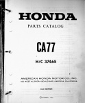 Honda Parts Catalog CA77 (1973)