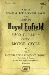 Spare and Replacement Parts for the 1959 - 1960 Royal Enfield 500 Bullet OHV Motorcycle