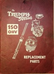 Triumph Terrier 1954 150 OHV Replacement Parts Catalog