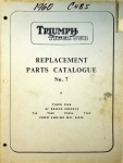 Triumph 1960 Tiger Cub Replacement Parts Catalog No. 7