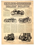 Excelsior-Henderson Dealers Bulletin Vol. II, No. 1, January 1923
