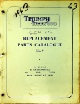 Triumph 1964 Tiger Cub Replacement Parts Catalog No. 9
