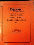 Triumph 1966 Tiger Cub Sports Models Replacement Parts Catalog No. 1