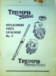 Triumph 1956 Terrier and Tiger Cub Replacement Parts Catalog No. 4