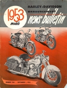 Harley-Davidson Announcement News Bulletin - 1953 Models