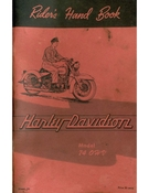 Riders Hand Book Harley-Davidson Model 74 OHV