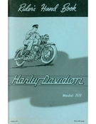 Riders Hand Book Harley-Davidson Model KH