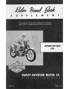 Rider Hand Book Supplement Sportster CH