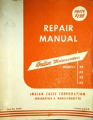 Indian Motorscooters Repair Manual Models 42 62 43 63