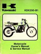 1980 Kawasaki KDX250-B1 Motorcycle Owners Manual and Service Manual