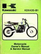 1980 Kawasaki KDX420-B1 Motorcycle Owners Manual and Service Manual