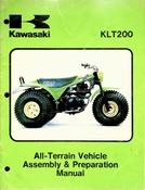 1981 Kawasaki KLT200 All Terrain Vehicle Assembly & Preparation Manual