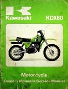 1980 Kawasaki KDX80 Motorcycle Owners Manual and Service Manual