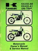 1980 Kawasaki KX250-A6 KX420-A1 Uni-Trak Motorcycle Owners Manual and Service Manual
