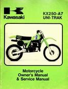1980 Kawasaki KX250-A7 Uni-Trak Motorcycle Owners Manual and Service Manual