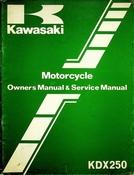1981 Kawasaki KDX250 Motorcycle Owners Manual and Service Manual