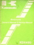 1981 Kawasaki KDX450 Motorcycle Owners Manual and Service Manual