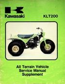 1981 Kawasaki KLT200 All Terrain Vehicle Service Manual Supplement