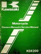 1982 Kawasaki KDX200 Motorcycle Owners Manual and Service Manual