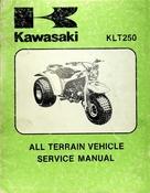 1982 Kawasaki KLT250 All Terrain Vehicle Service Manual