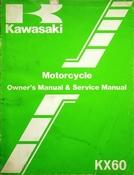 1982 Kawasaki KX60 Motorcycle Owners Manual and Service Manual