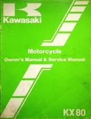 1982 Kawasaki KX80 Motorcycle Owners Manual and Service Manual
