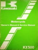 1982 Kawasaki KX500 Motorcycle Owners Manual and Service Manual