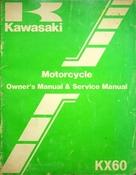 1983 Kawasaki KX60 Motorcycle Owners Manual and Service Manual