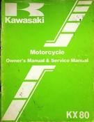 1983 Kawasaki KX80 Motorcycle Owners Manual and Service Manual