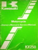 1983 Kawasaki KX250 Motorcycle Owners Manual and Service Manual (rev. 2)