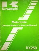 1983 Kawasaki KX250 Motorcycle Owners Manual and Service Manual