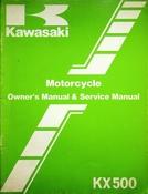 1983 Kawasaki KX500 Motorcycle Owners Manual and Service Manual