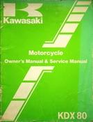 1984 Kawasaki KDX80 Motorcycle Owners Manual and Service Manual