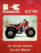 1984 Kawasaki KLT110 All Terrain Vehicle Service Manual