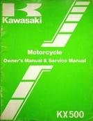 1984 Kawasaki KX500 Motorcycle Owners Manual and Service Manual