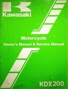 1985 Kawasaki KDX200 Motorcycle Owners Manual and Service Manual