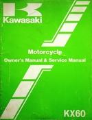 1985 Kawasaki KX60 Motorcycle Owners Manual and Service Manual