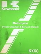 1986 Kawasaki KX60 Motorcycle Owners Manual and Service Manual